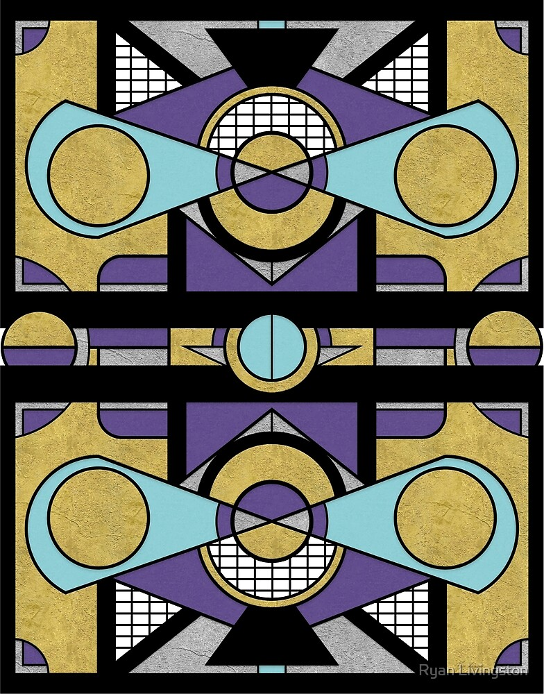 Art Deco Set Piece - Geometric Abstract  by Ryan Livingston
