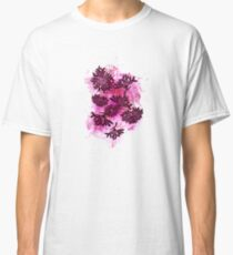 Peonies (black on pink) Classic T-Shirt