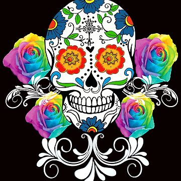 Colorful Day of the Dead Sugar Skulls by Atteestude