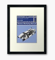 Mass Effect - Kodiak - Owners Workshop Manual (Retro) Framed Print