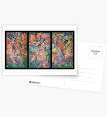 Triptych Tinges Postcards