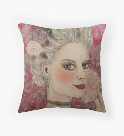 Marie and her Make-up Throw Pillow
