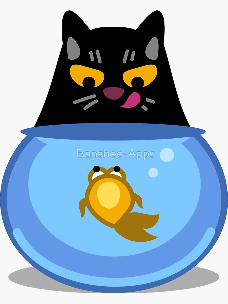 Funny Catfish Tshirt and Stickers - Cat Gifts for Catfish lovers everywhere! by Banshee-Apps