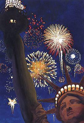 """Liberty 2K"" Watercolor by Paul Jackson"