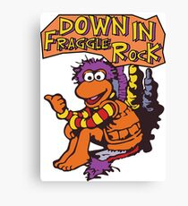 Fraggle Rock Fraggles 80s Muppets Gobo 1980s Comic Cartoon Canvas Print