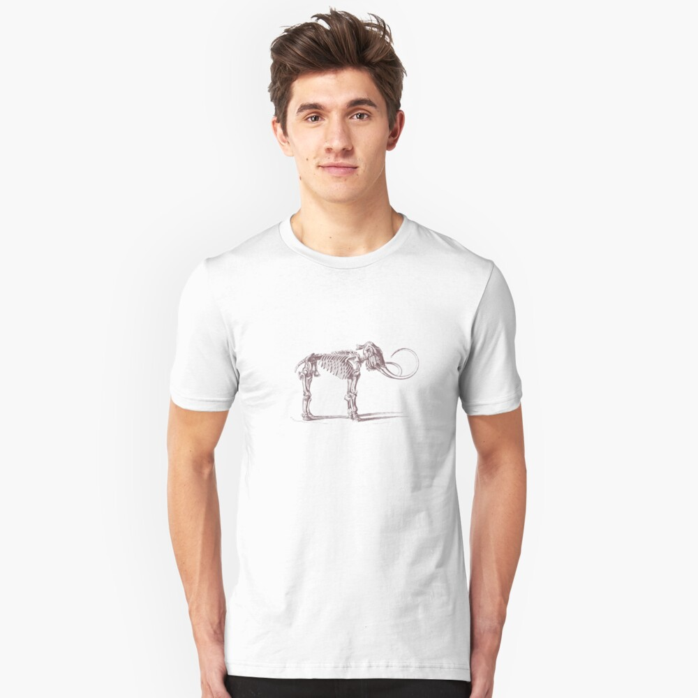 Woolly Mammoth Skeleton Unisex T-Shirt