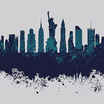 New York City Skyline by Mommylife
