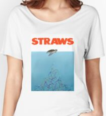 Turtles straws Women's Relaxed Fit T-Shirt