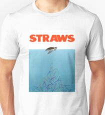 Turtles straws Unisex T-Shirt