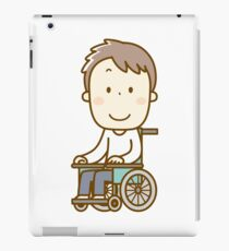 Man in Wheelchair iPad Case/Skin