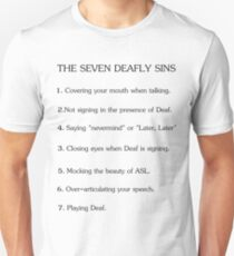 Deafly Sins - American sign language T-Shirt