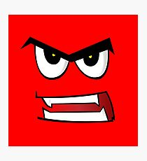 Angry Face Photographic Print