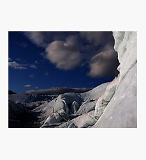 Far ice - climber in deep blue bliss Photographic Print