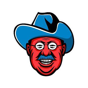 Theodore Roosevelt Rough Riders Mascot by patrimonio