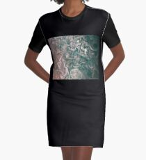 Jupiter Abstract Painting Graphic T-Shirt Dress