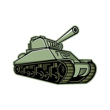 M4 Sherman Medium Tank Mascot by patrimonio