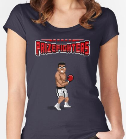 Prizefighters Logo and Icon Fitted Scoop T-Shirt