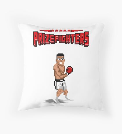 Prizefighters Logo and Icon Throw Pillow