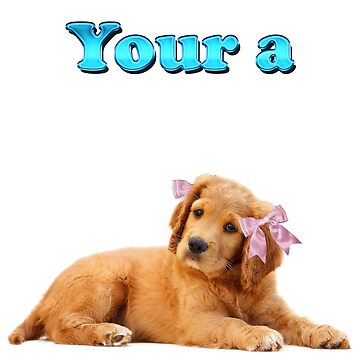 Your a Female Dog pink bows by ratherkool