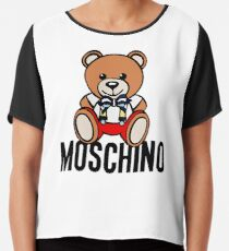 moschino bear Chiffon Top