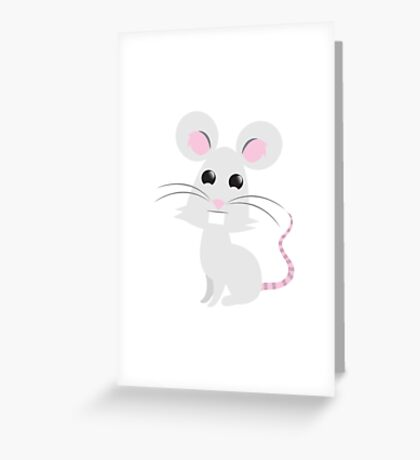 A little grey mouse Greeting Card