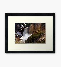 Lower Falls - Yellowstone River Framed Print
