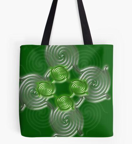 Green Abstract  pattern  3216 Views) Tote Bag
