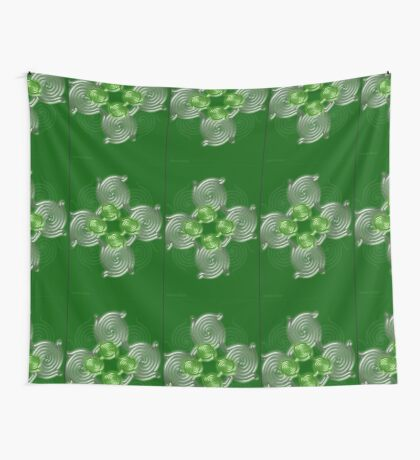 Green Abstract  pattern  3216 Views) Wall Tapestry