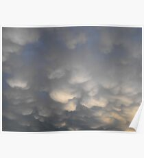 Heavy Rain Clouds Poster