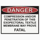 Danger - Exopectoral Textile Membrane by Ron Marton
