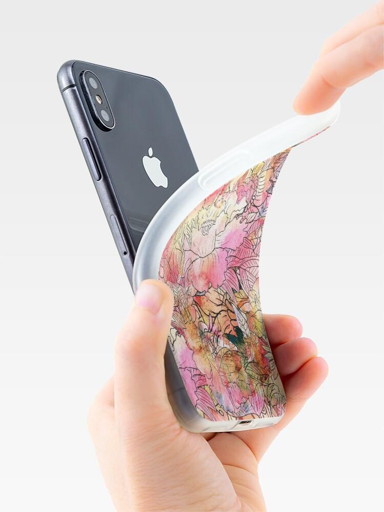 Alternative Ansicht von Bunte Aquarell-Blumenmuster-abstrakte Skizze iPhone-Hülle & Cover
