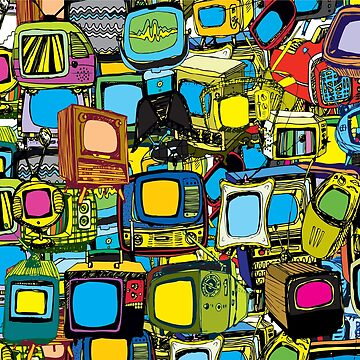 Televisions of various ages by fschueler