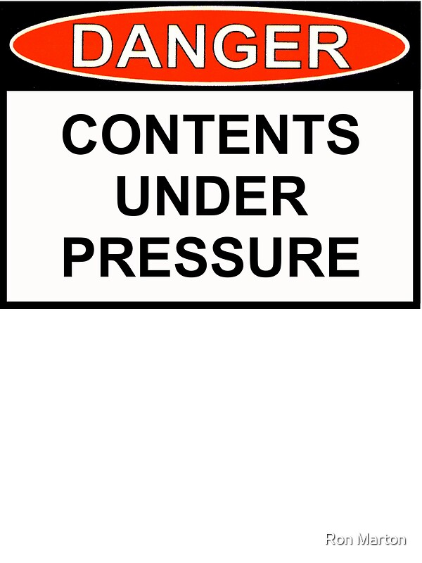 """Contents Under Pressure: Contents Under Pressure"""" Stickers By Ron Marton"""
