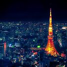Tokyo Tower at night by Guillaume Marcotte
