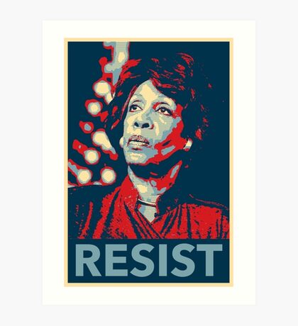 I Stand with Maxine Waters Art Print