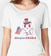 Adorable Deplorable Patriotic Kitten Women's Relaxed Fit T-Shirt