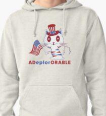 Adorable Deplorable Patriotic Kitten Pullover Hoodie