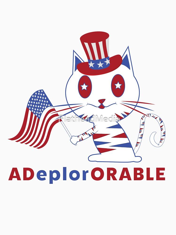 Adorable Deplorable Patriotic Kitten by FlatheadMedia