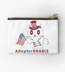 Adorable Deplorable Patriotic Kitten Studio Pouch