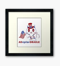 Adorable Deplorable Patriotic Kitten Framed Print