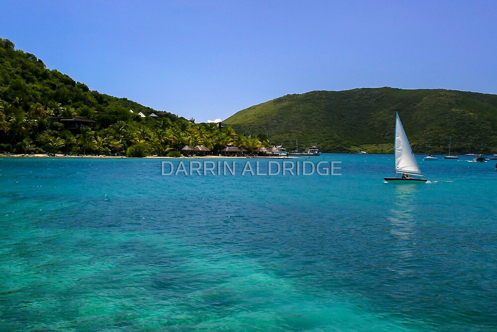 Sailboat At Saba Rock by DARRIN ALDRIDGE