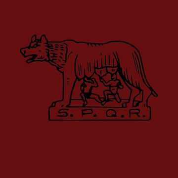 Roman Empire Rome Wolf old Symbol by bumblethebee