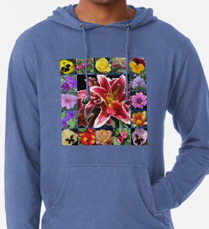 Auswahl an Sommerblumen Collage Leichter Hoodie