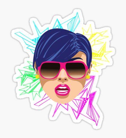 Pink Sunglasses Sticker