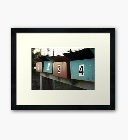 pick a number....any number  Framed Print