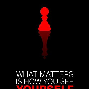 What matters is how... Life Inspirational Quote with Concept. by MOSAICART