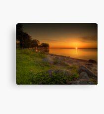 Violetter Sonnenaufgang Canvas Print