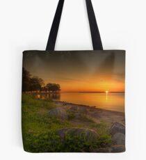 Violetter Sonnenaufgang Tote Bag
