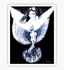 Phoenix Rising from Ashes Sticker