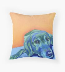 Blue Labrador Dog Throw Pillow